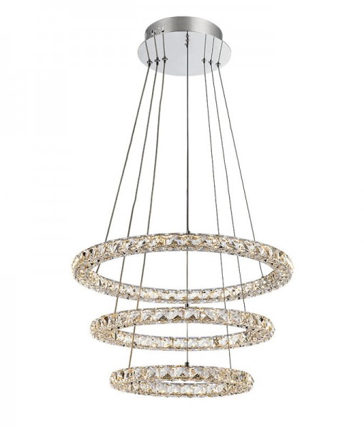 LED Crystal 3 Tier Ring Chandelier 2