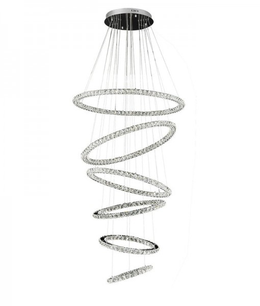 LED Crystal 6 Tier Ring Chandelier 1