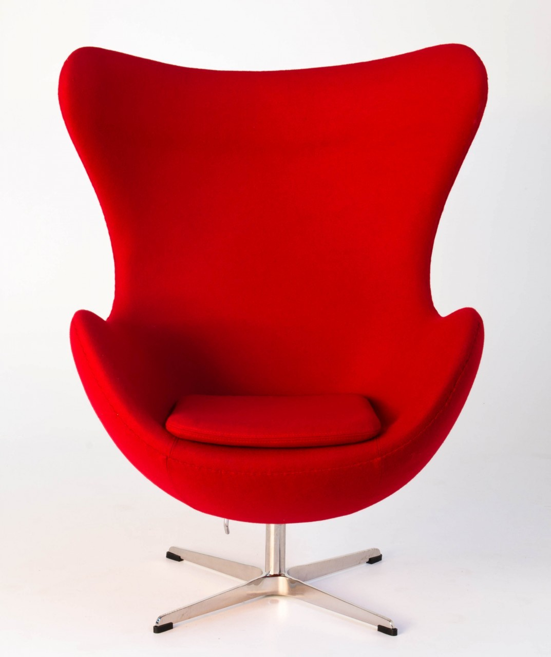 Replica arne jacobsen egg chair red for Arne jacobsen stehlampe replica