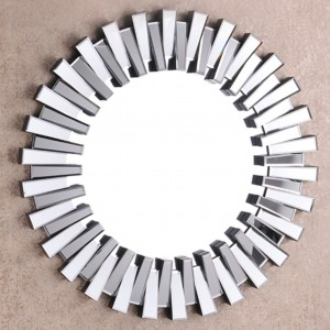 Stylish Round Wall Mirror Art Deco Luxury Starburst Mirror Luxy Living