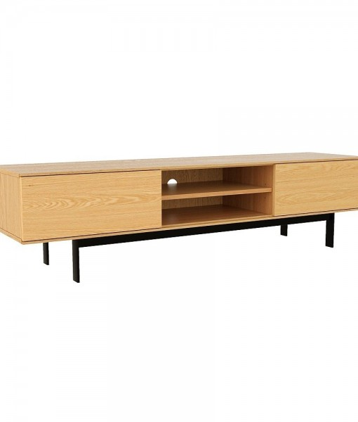 Entertainment-Unit-180-cm-American-Oak-Lowline-TV-Stand-3