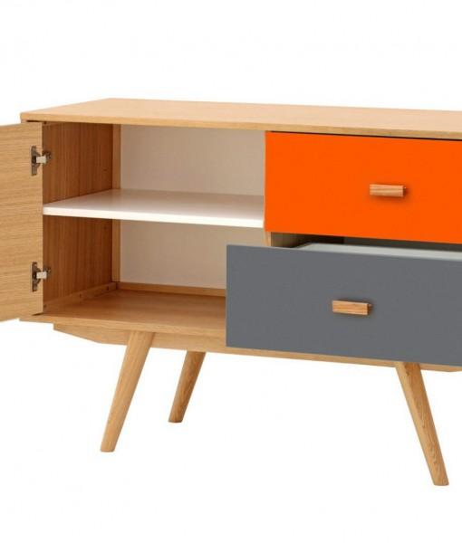Scandinavian-Sideboard-Buffet-Oak-Orange-Grey-3