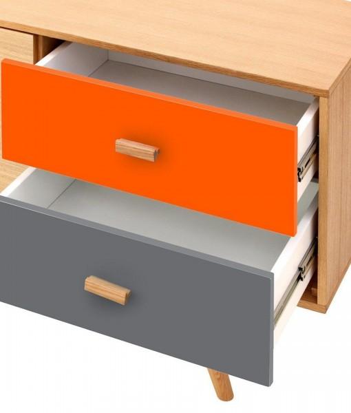 Scandinavian-Sideboard-Buffet-Oak-Orange-Grey-5