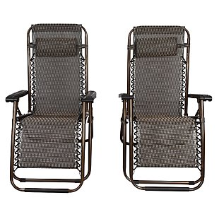 Bronze Outdoor Lounge Chairs Set Of 2