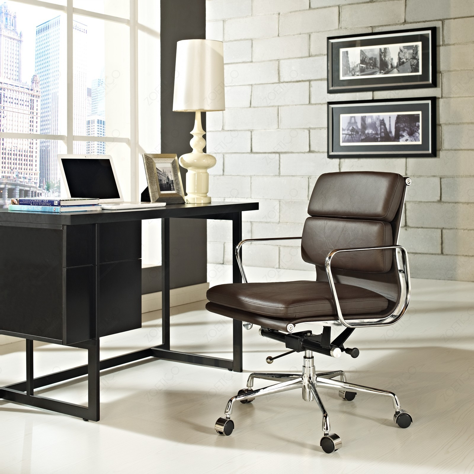 Swell Replica Eames Low Back Soft Pad Management Office Chair Brown Andrewgaddart Wooden Chair Designs For Living Room Andrewgaddartcom