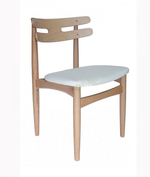 replica-hw-klein-bramin-chair-natural-ash-frame-white-pu-leather-seat