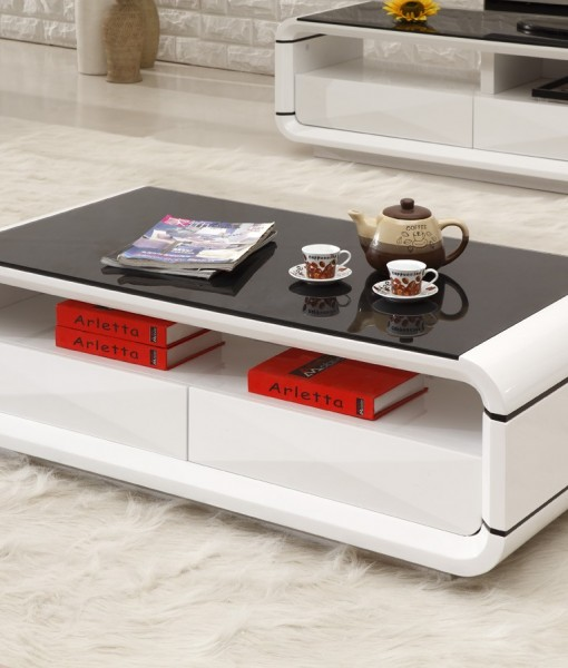 ONSU Coffee Table WHite Black