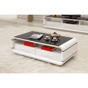 Onsu Coffee Table Black White