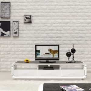 Onsu TV unit White Black 200cm ori