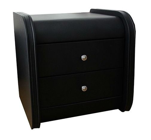Barcelona bedside table black ori