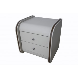 Barcelona bedside table latte brown