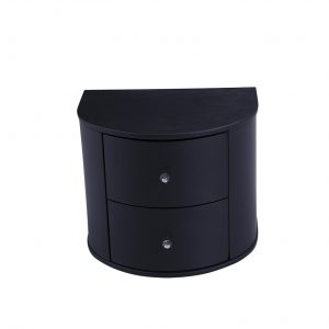 Cresent Side Table Black