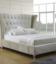 Liz cow leather bed