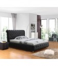 Valent pu leather bed Black