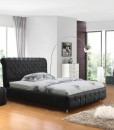 Valent pu leather bed Black ori