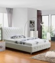 Valent pu leather bed white