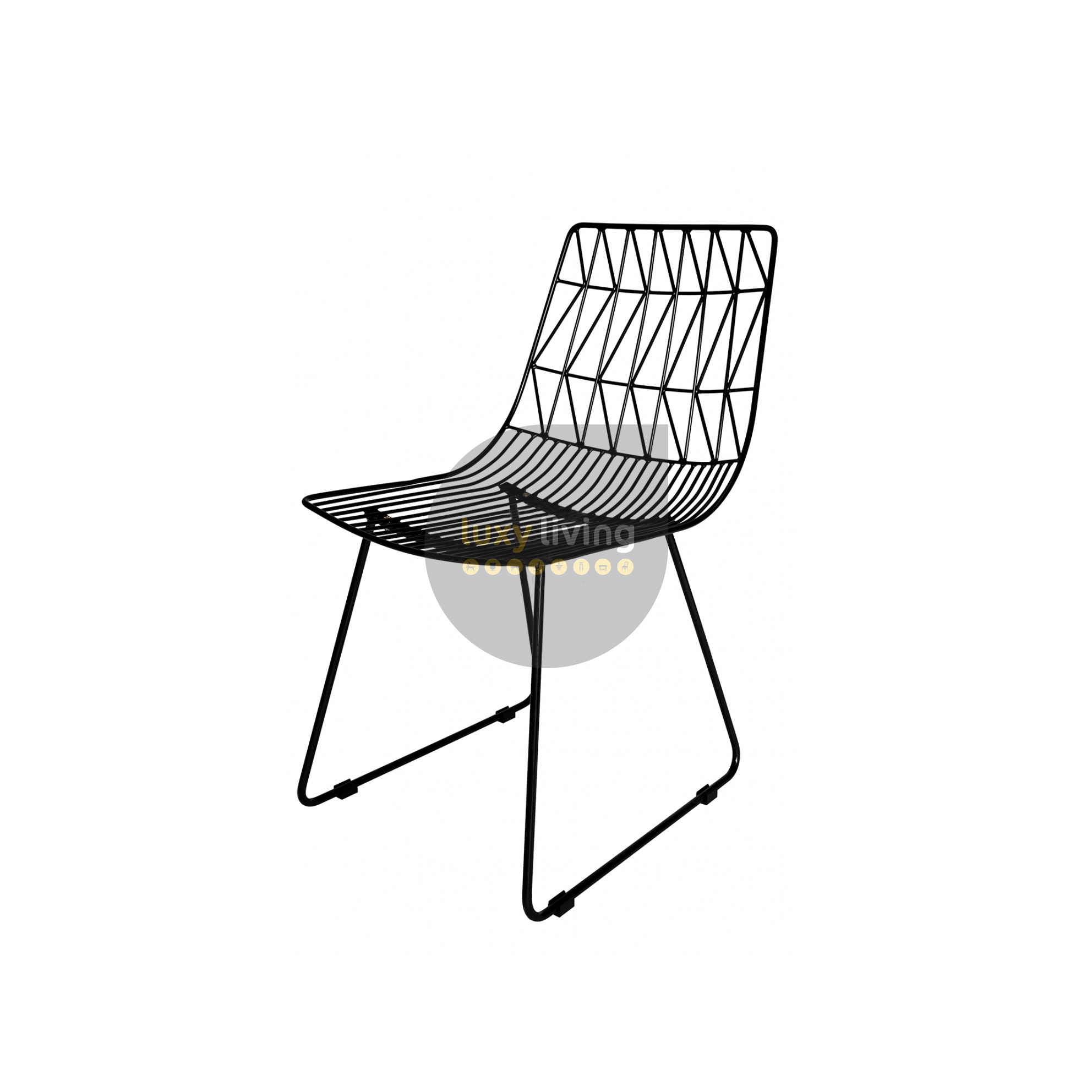 bertoia replica eat harry chair products furniture black wire