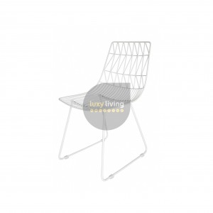 Replica Bend Wire Chair - White