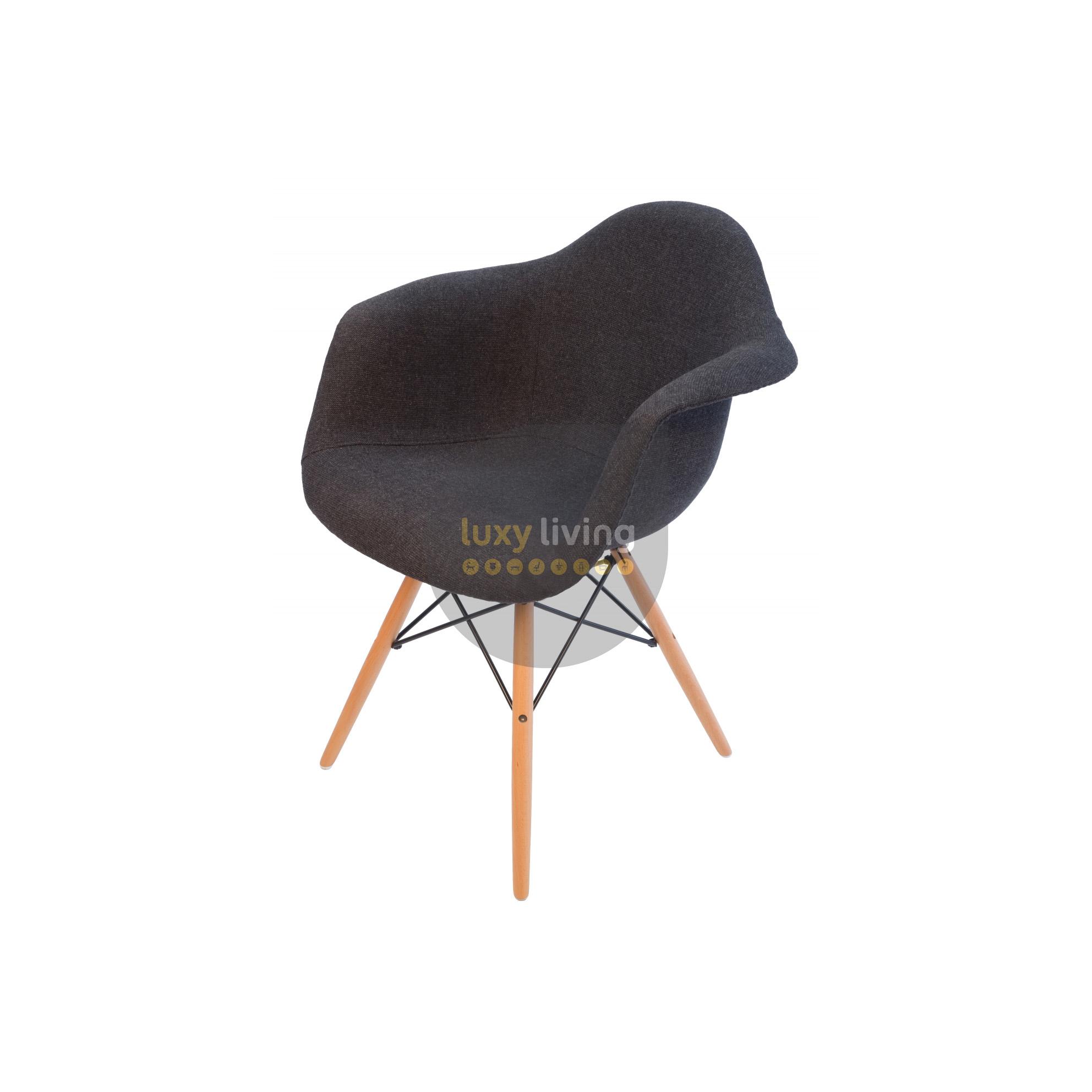 sc 1 st  Luxy Living & Replica Eames DAW Eiffel Chair u2013 Grey / Charcoal Fabric u0026 Natural Legs