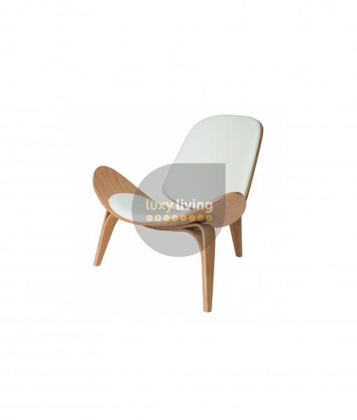 Replica Hans Wegner Shell Chair - White