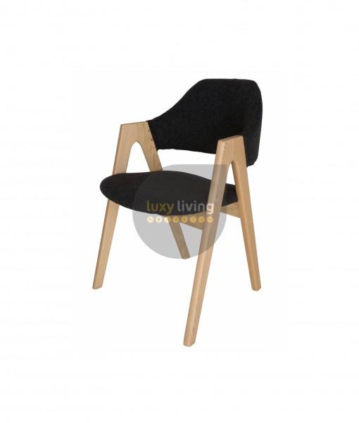 Replica Kai Kristiansen Compass Chair - Grey / Charcoal & Natural