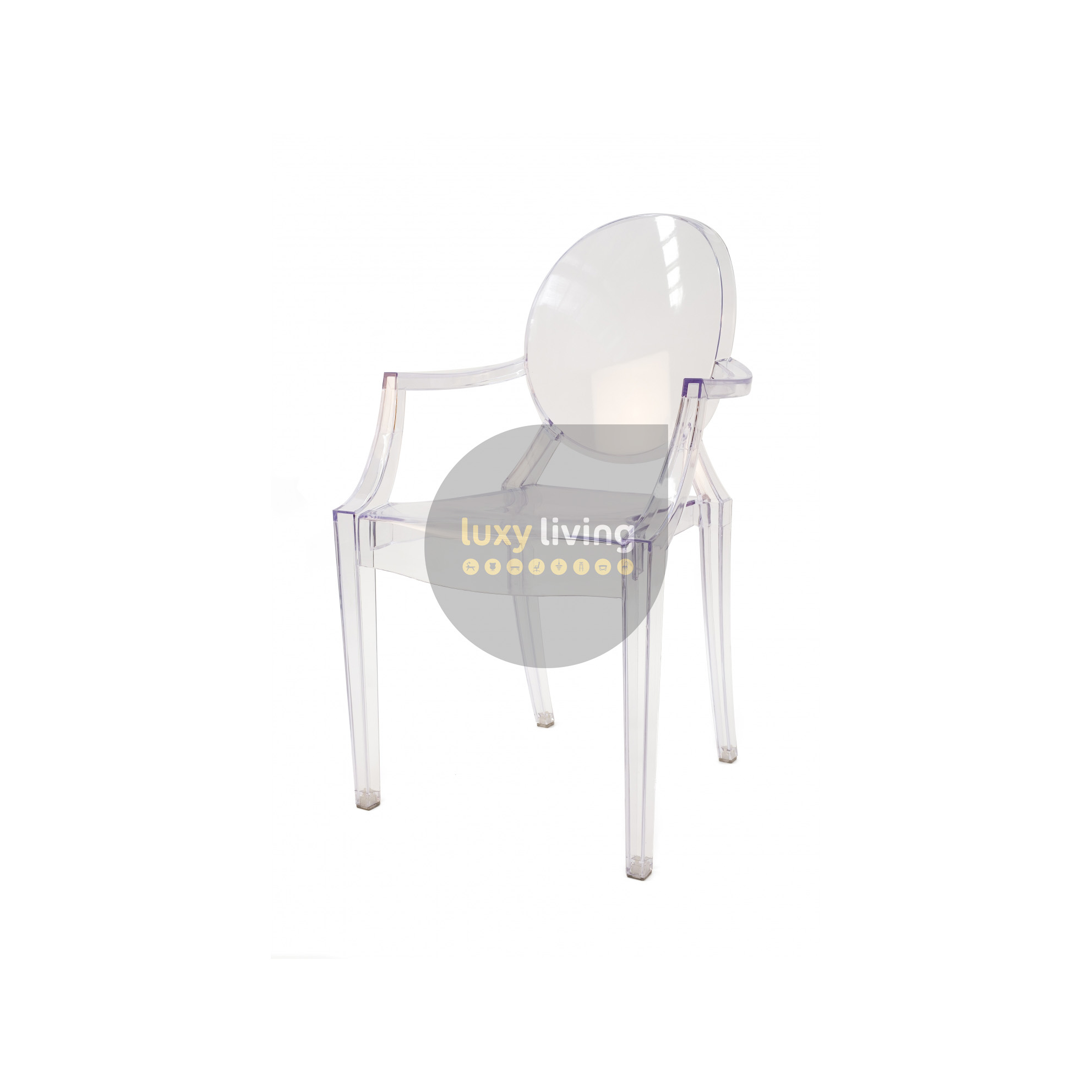 philippe chair ghost kartell transparant louis starck