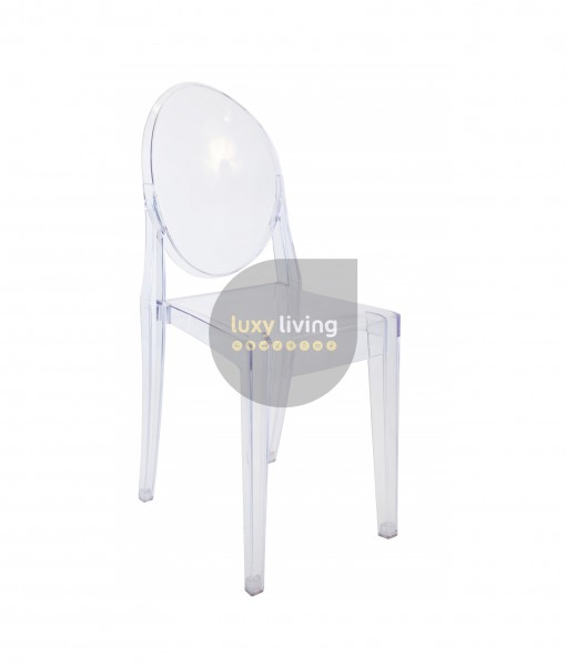 Replica Philippe Starck Louis Ghost Victoria Chair - Clear Transparent