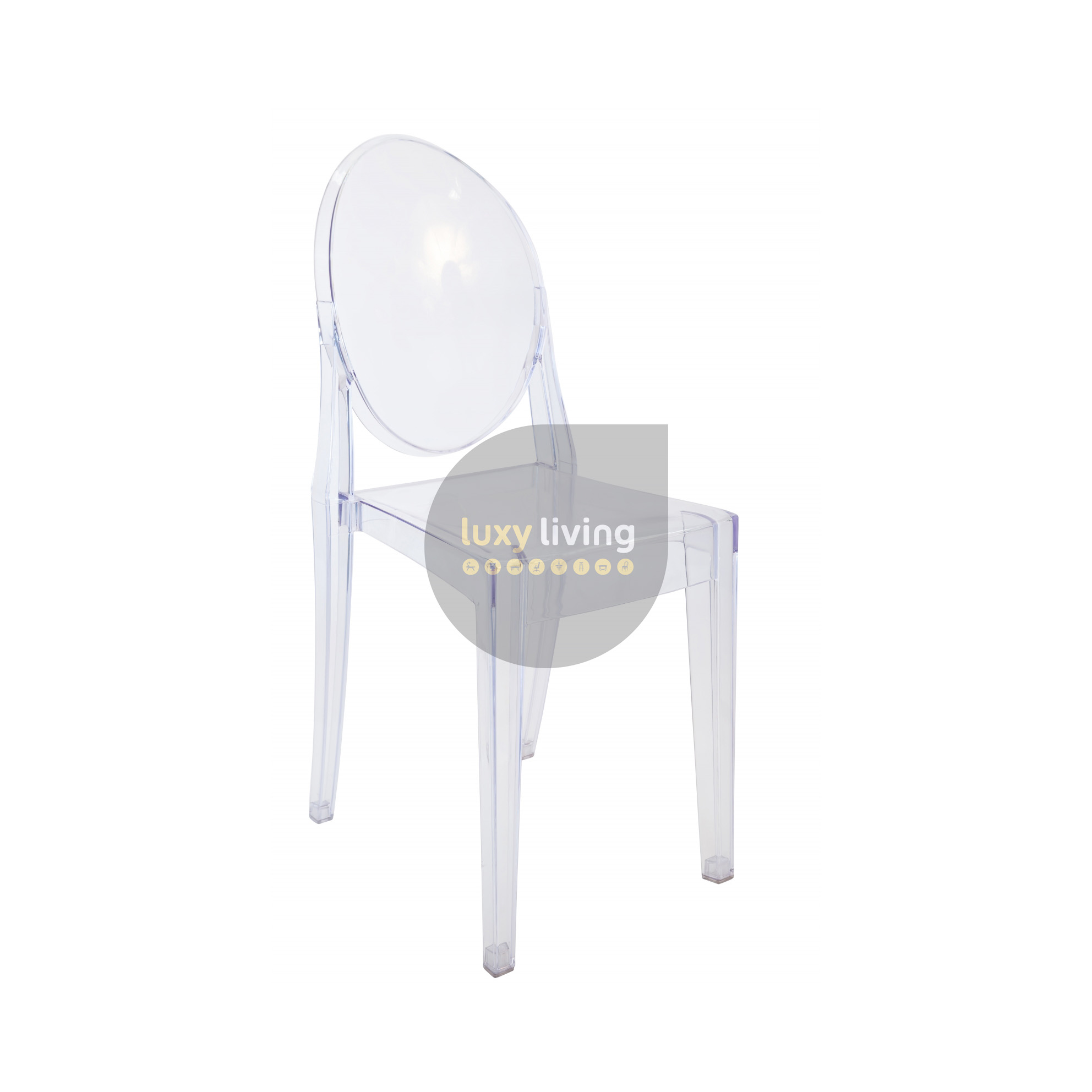by armrests stackable louis en chair polycarbonate with in kartell arredaclick ghost transparent starck chairs