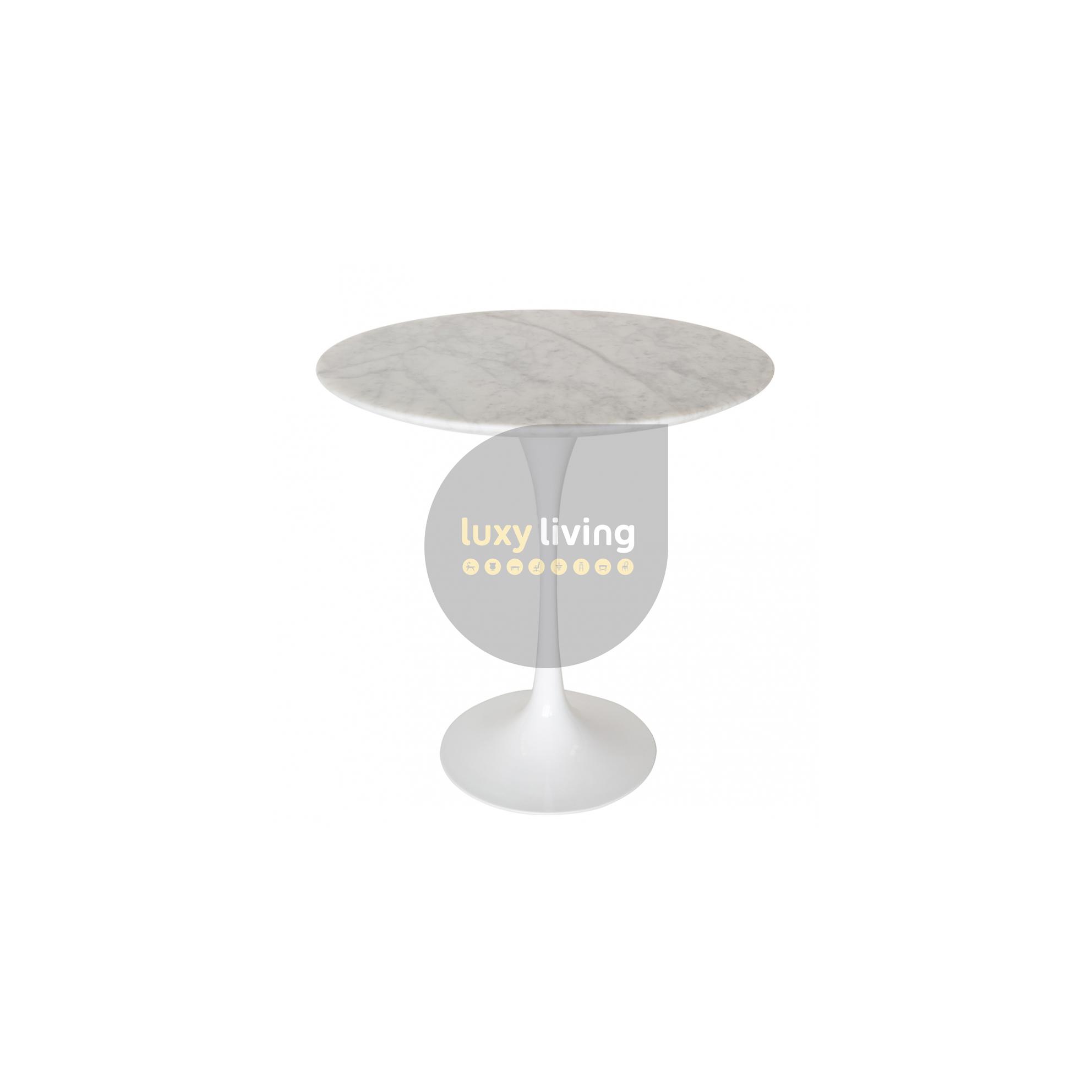 Replica Eero Saarinen Tulip Marble Side Table White