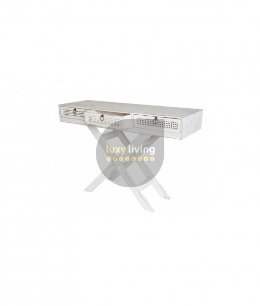 Florent French Chic Console Table - Washed White