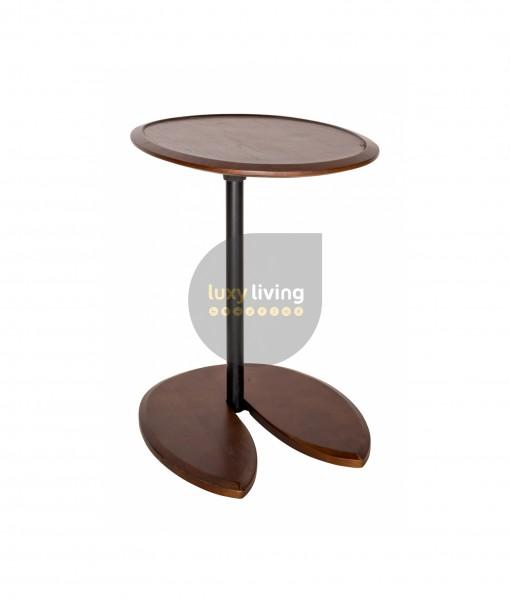 Replica Eileen Gray Adjustable Cigarette Table - Black & Walnut