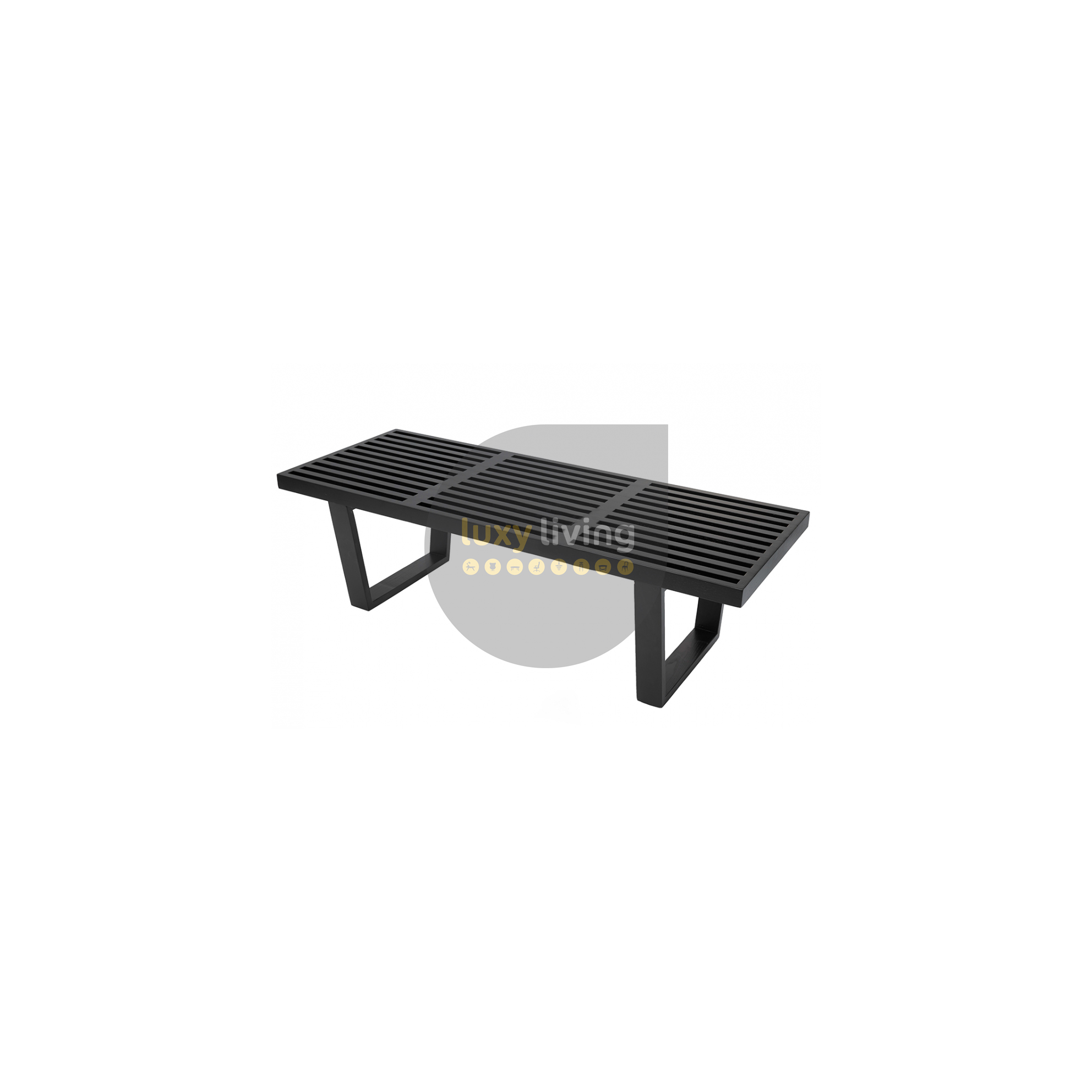 Pleasing Replica George Nelson Platform Bench Black 122Cm Gmtry Best Dining Table And Chair Ideas Images Gmtryco