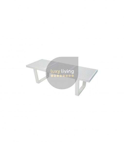 Replica George Nelson Platform Bench - White - 122cm