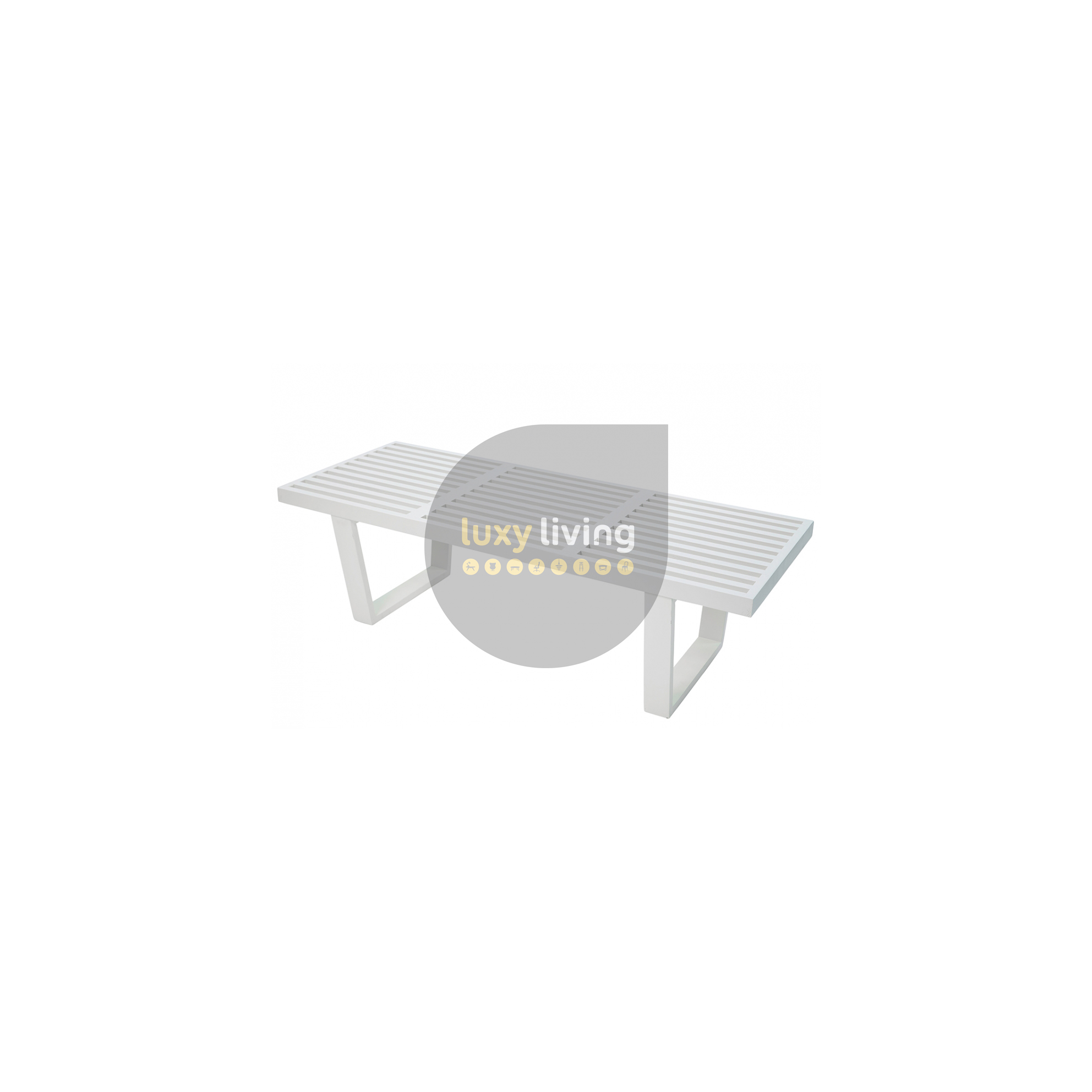 Phenomenal Replica George Nelson Platform Bench White 152Cm Gmtry Best Dining Table And Chair Ideas Images Gmtryco