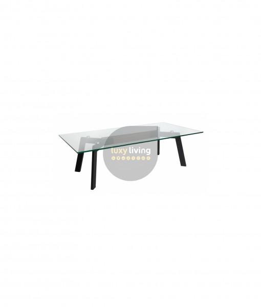 VUE Collection - Coffee Table - Matte Black & Walnut - 120cm
