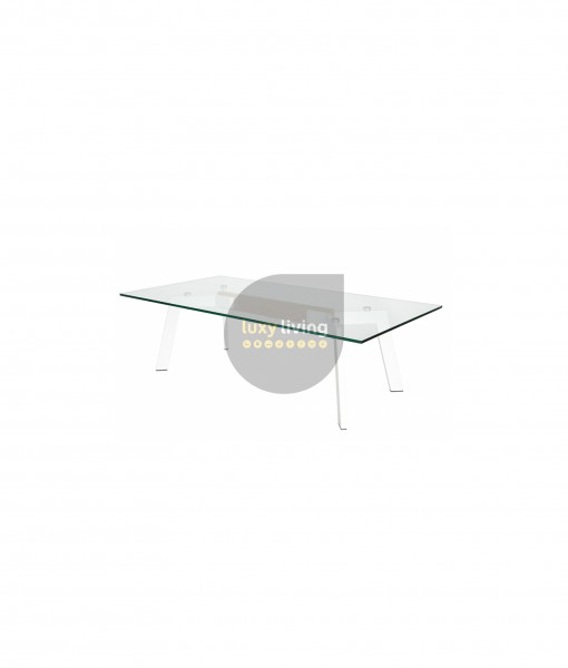 VUE Collection - Coffee Table - White & Natural - 120cm