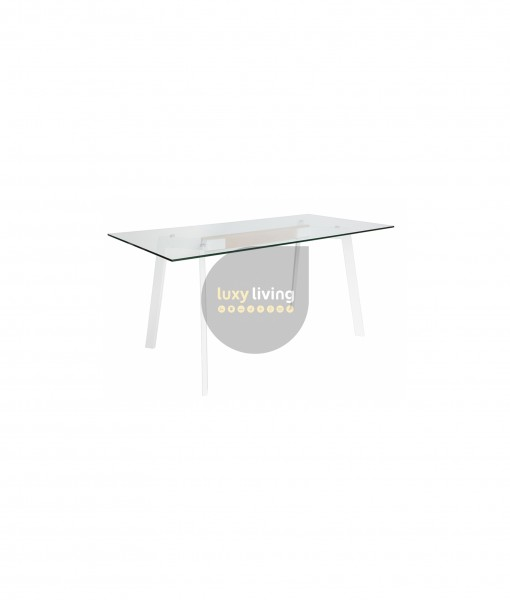 VUE Collection - Dining Table - White & Natural - 160cm