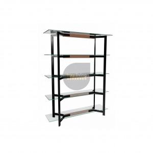 VUE Collection - Display Shelves - Black & Walnut