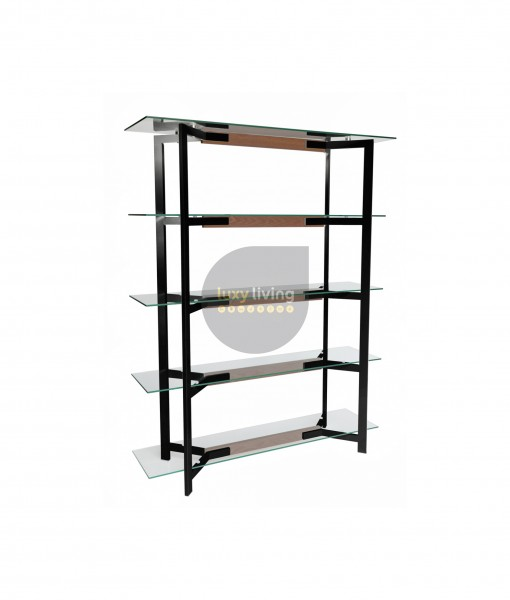 VUE Collection - Display Shelves - Black & Walnut