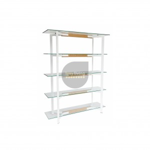 VUE Collection - Display Shelves - White & Natural