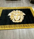 V Rug Black and Gold