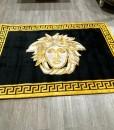 V Rug Black and Gold